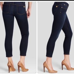 Michael Kors Stretch Skinny Ankle Jean 8 Dark Wash